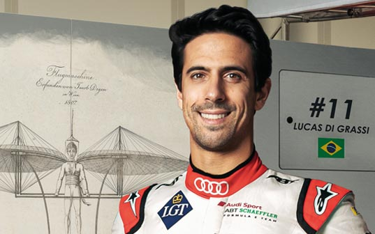 Lucas di Grassi, supported since 2015