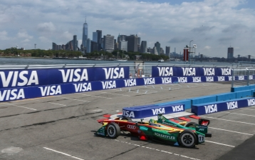 Lucas di Grassi atb the Formula E ePrix in NYC