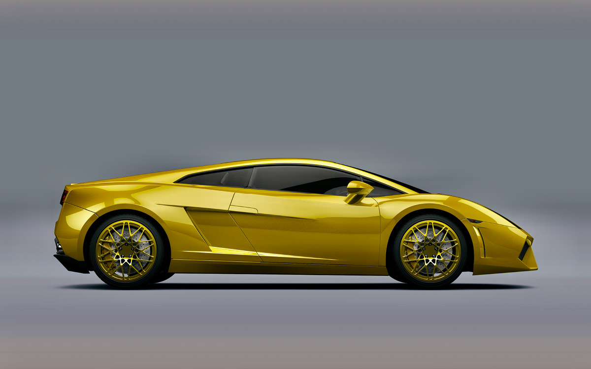 golden sportscar
