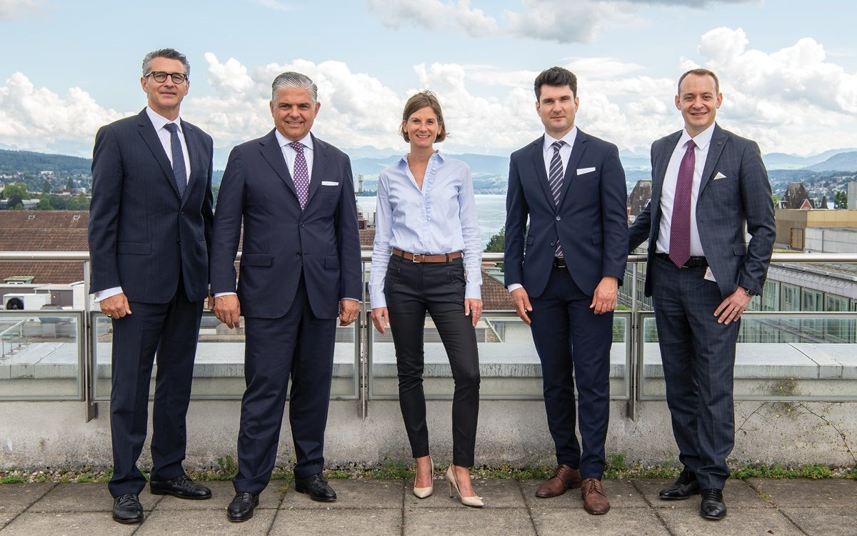 LGT Bank Switzerland's UHNWI Competence Center: Benjamin Vetterli, Riccardo Petrachi, Patricia Ordody, Elias Lipp and Mark Schindler (from left to right).